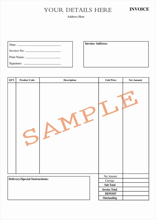 Duplicate Design  Uk Invoice Template