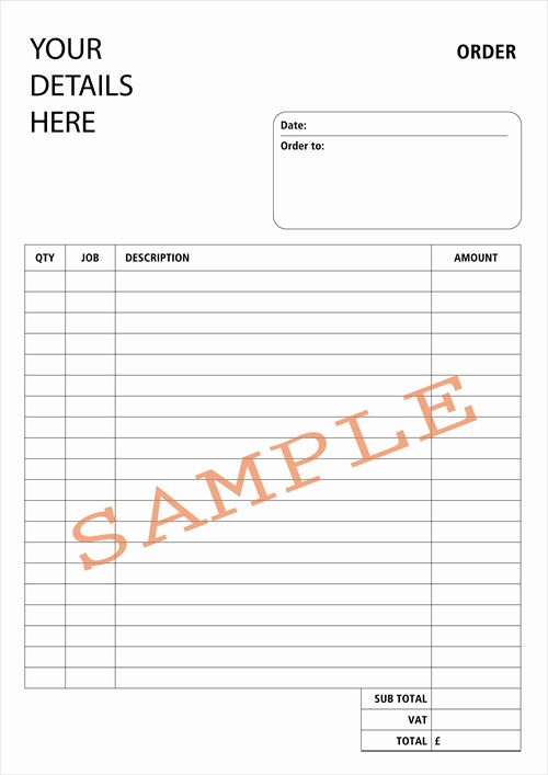 Duplicate Design bespoke duplicate books and pads – Delivery Order Form Template